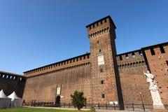 Castello di Sforza in Milan Italy - Castello Sforzesco Fotografia Stock Libera da Diritti