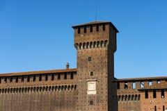Castello di Sforza in Milan Italy - Castello Sforzesco Immagine Stock Libera da Diritti