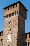 Castello di Sforza in Milan Italy - Castello Sforzesco Immagine Stock