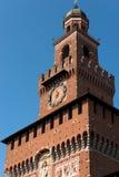 Castello di Sforza in Milan Italy - Castello Sforzesco Immagini Stock Libere da Diritti