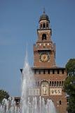 Castello di Sforza, Milano, Italia Fotografie Stock Libere da Diritti