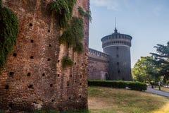 Castello di Sforzesco di Milano Fotografia Stock