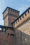 Castello di Sforzesco di Milano Immagine Stock