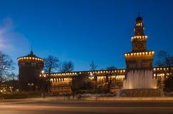 Castello di Sforzesco a Milano immagine stock libera da diritti