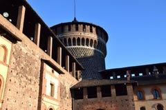 Castello di Sforzesco - Milano Fotografia Stock
