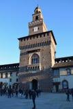 Castello di Sforzesco - Milano Fotografie Stock Libere da Diritti
