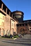 Castello di Sforzesco - Milano Fotografie Stock