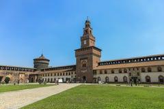 Castello di Sforzesco, Milano Immagini Stock Libere da Diritti