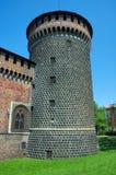 Castello di Sforzesco, Milano Immagine Stock