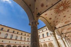 Castello di Sforzesco a Milano, Italia Fotografie Stock
