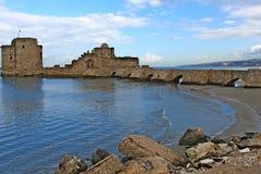 Castello di Sidon nel Libano Fotografia Stock