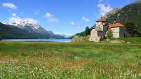 Castello di Silvaplana vicino a St Moritz switzerland Fotografia Stock