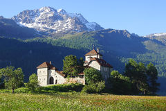 Castello di Silvaplana vicino a St Moritz switzerland Immagini Stock