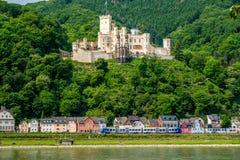 Castello di Stolzenfels alla valle del Reno vicino a Coblenza, Germania Fotografia Stock