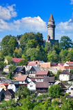 Castello di Stramberk e città gotici medievali, repubblica di Czrech Immagine Stock Libera da Diritti