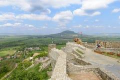 Castello di Szigliget Regione di Veszprem l'ungheria fotografie stock libere da diritti