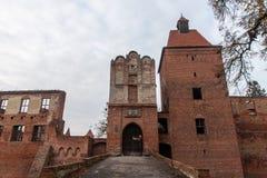 Castello di Szymbark in Polonia Fotografie Stock
