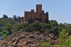 Castello di Templar di Almourol in Tomar Fotografie Stock