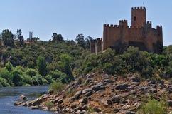 Castello di Templar di Almourol in Tomar Fotografie Stock Libere da Diritti
