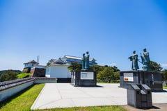 Castello di Tomioka sulla collina in Amakusa, Kumamoto, Giappone Immagine Stock