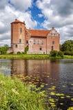 Castello di Torups con la riflessione fotografie stock