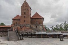 Castello di Trakai, iarda esterna Fotografie Stock