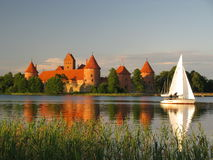 Castello di Trakai, Lituania Immagini Stock Libere da Diritti