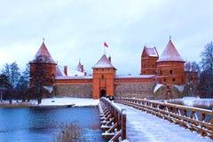 Castello di Trakai nell'inverno Immagine Stock Libera da Diritti