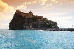 Castello di tramonto degli ischi fotografie stock
