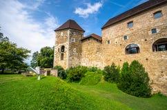 Castello di Transferrina - laureato di Ljubljanski, Slovenia fotografie stock libere da diritti