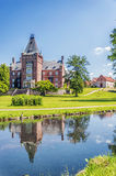 Castello di Trollenas con la riflessione fotografie stock libere da diritti