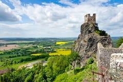 Castello di Trosky, regione della Boemia di paradiso, repubblica Ceca, Europa Immagine Stock Libera da Diritti