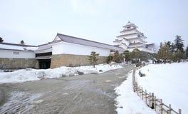 Castello di Tsuruga-jo Fotografia Stock