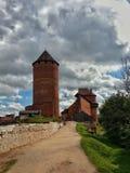 Castello di Turaida in lettonia di sigulda Immagini Stock