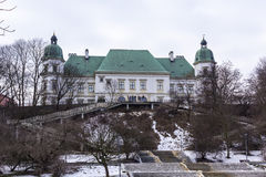 Castello di Ujazdowski nell'inverno tardo Città di Varsavia, Polonia Fotografia Stock Libera da Diritti
