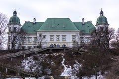 Castello di Ujazdowski nell'inverno tardo Città di Varsavia, Polonia Fotografie Stock