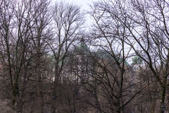 Castello di Ujazdowski nell'inverno tardo Città di Varsavia, Polonia Immagini Stock Libere da Diritti