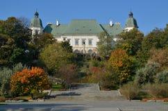 Castello di Ujazdowski a Varsavia (Polonia) fotografia stock libera da diritti