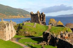 Castello di Urquhart, Scozia Fotografie Stock Libere da Diritti