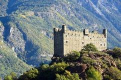 Castello di Ussel - Chatillon (la valle d'Aosta) Fotografie Stock