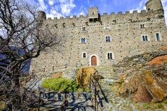 Castello di Ussel in Chatillon nella valle d'Aosta, Italia Fotografia Stock