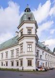 Castello di Uzadow a Varsavia fotografia stock libera da diritti