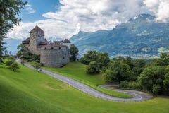 Castello di Vaduz, il palazzo del principe del Liechtenstein Immagini Stock Libere da Diritti