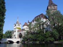 Castello di Vajdahunyad a Budapest, Ungheria Fotografia Stock