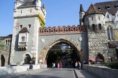 Castello di Vajdahunyad a Budapest, Ungheria Fotografie Stock Libere da Diritti