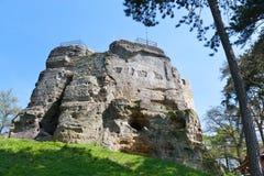 Castello di Valecov, paradiso della Boemia, repubblica Ceca, Europa Fotografia Stock Libera da Diritti