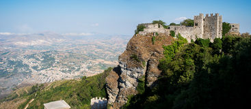 Castello di Venere in Erice. Sicily, Italy. Stock Photography