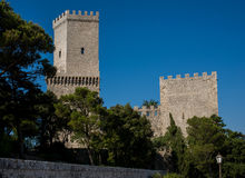 Castello di Venere in Erice. Sicily, Italy. Royalty Free Stock Photography