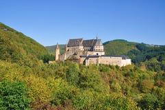 Castello di Vianden a Lussemburgo Fotografie Stock Libere da Diritti