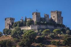Castello di vista panoramica di Almodovar Fotografia Stock